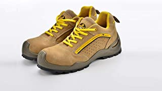 Safety shoes suede cow leather with Steel toecap and Steel plate