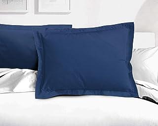 Home Linge Passion Lots DE 2 TAIES 50 x 70 Bleu 100% Coton 57 Fils, 50x70 cm