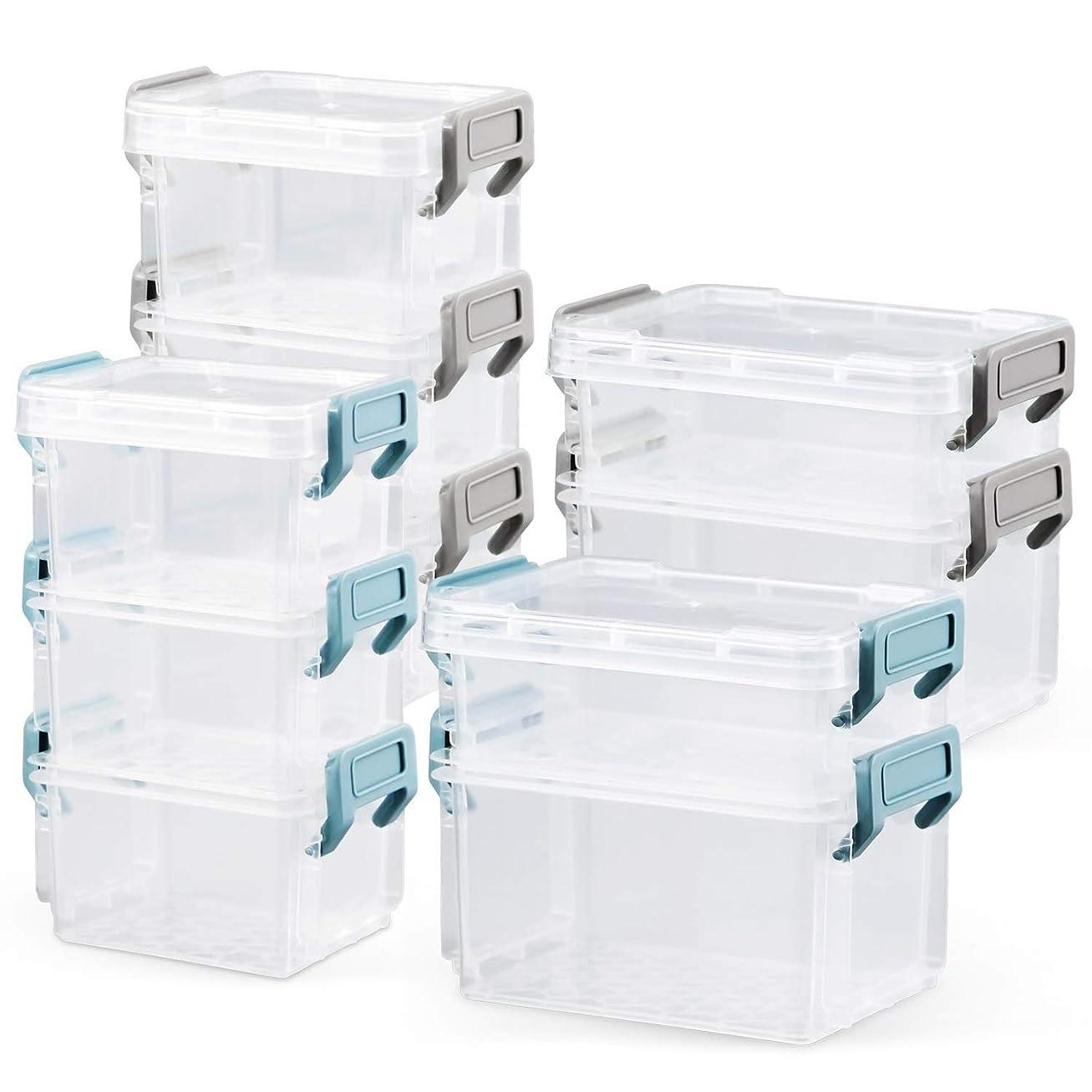 変動する内訳インサートHULISEN プラスチック 収納ケース 小物用収納ボックス ビーズ パーツ 小物入れ (2サイズセット)