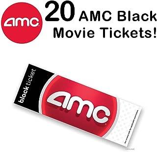 20 AMC Theatre Black Movie Tickets (Save $35+)