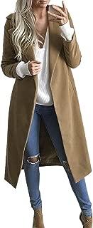 JMETRIE ❄ Women's Long Coat Lapel Cardigan Overcoat Outwear Parka Jacket