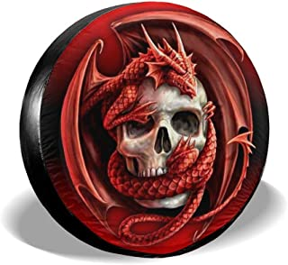 Dlovae 14 15 16 17 Universal Spare Tire Tyre Cover Wheel Covers for All Cars Fishing Heartbeat