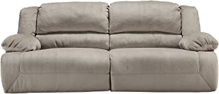 Ashley Furniture Signature Design - Toletta Power Reclining Sofa - 2 Seat Upholstered Couch Recliner - Granite