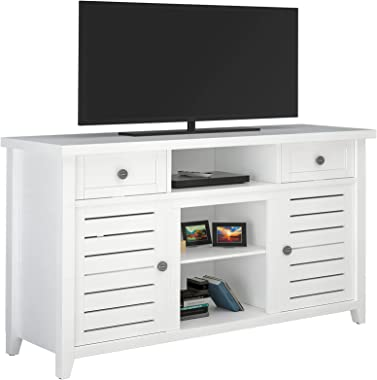 LGHM White TV Stand, Entertainment Center for 55 inch TV, Entertainment Stand with Drawers and Shelves, TV Stand for Living R
