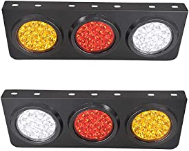 LED Truck/Trailer Tail Lights with Iron Bracket Base - Waterproof DC12-24V 44-LED Tail Light Bar for Turn/Signal/Running Lamps Fits any Truck/RV/Camper/Trailer etc(2 PCS)