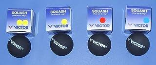Victor - Set di 4 palle da squash, 4 velocità