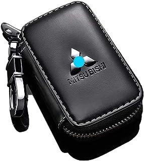 Sponsored Ad - Car Key case,Genuine Leather Car Smart Key Chain Keychain Holder Metal Hook and Keyring Zipper Bag