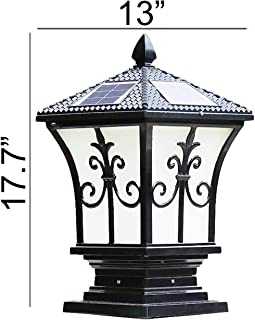 black solar post lights