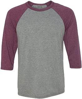 Three-Quarter Sleeve Baseball Raglan Shirts in 21 Colors. XS-2XL