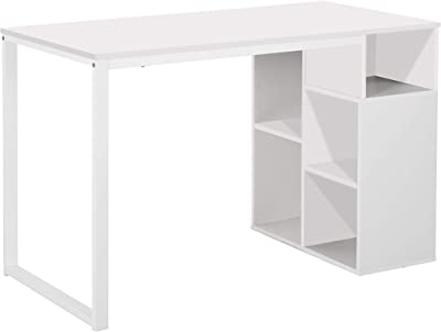Tuoni Schreibtisch Melany mit Sichtablagen Farbe Weiß, Breite 120 cm