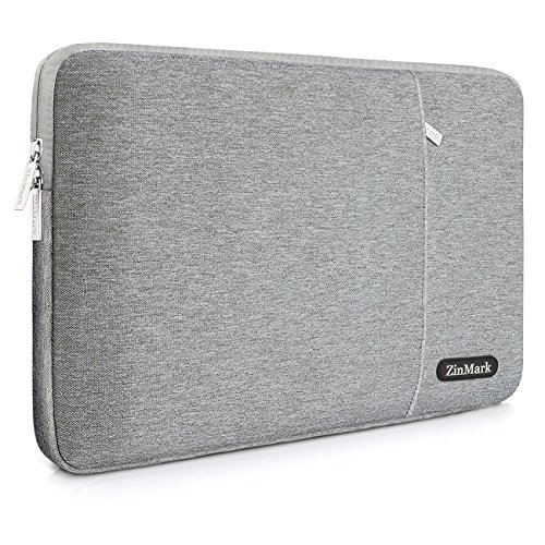 ZinMark Laptop Sleeve 15.6 Inch, Spill-Resistant Protective Case for 15.4-Inch MacBook Pro A1286 / Retina A1398 and Most 15.6-Inch Dell Lenovo HP Asus Samsung Toshiba Notebooks, Gray