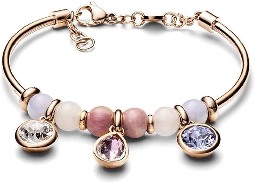 Brosway jewels bracciale tres jolie,in acciaio 316l,e pendenti con cristalli swarovski. 8053851042011