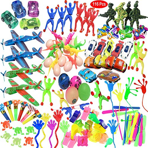 Mattelsen Juguetes Cumpleaños Infantiles Juguete del Partido Favor 116 Pcs Juguetes para Rellenar piñatas y Bolsas de Regalo de Fiestas de cumpleaños Infantiles o para el Colegio