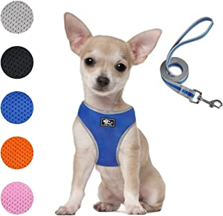 Puppy Harness and Leash Set - Dog Vest Harness for Small Dogs Medium Dogs- Adjustable Reflective Step in Harness for Dogs...