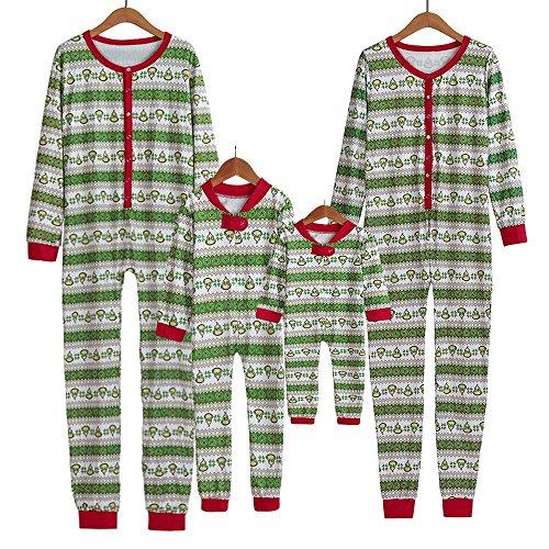 Toamen Pigiama Pigiami Natale Famiglia Pigiami Donna Pigiama Uomo Pigiama Bambina Invernali - Famiglia Pigiama di Natale Pajama Stampato Morbido Pjs Maglietta Pantaloni Sleepwear(Ragazzo: 2 Anni)