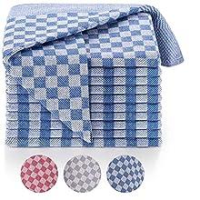 Blumtal Set de 5 paños de Cocina Premium - Paños de Cocina Gran tamaño 50x70 cm, 100% algodón, Certificado Oeko-Tex®, Cuadros Azules