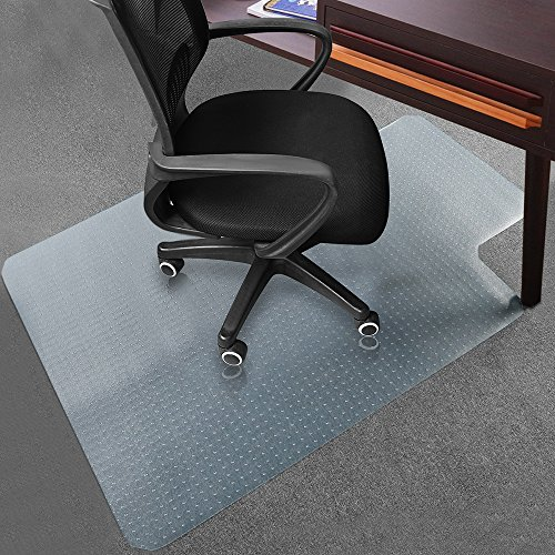 "Office Desk Chair Mat for Carpet Anti-Slip PVC Transparent Sturdy Carpet Chair Mat 48"" x 36"" from Sallymall - No BPA Phthalates, Odorless (Lip)"