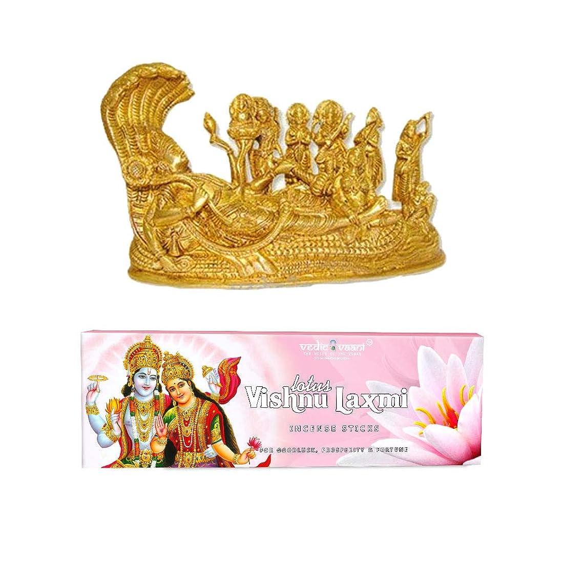 座標動的ケントVedic Vaani Vishnu Pariwar with Vishnu Laxmi お香スティック