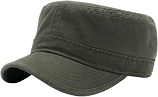 Duolaimi Cotton Cadet Army Military Cap Hats for Unisex Adult