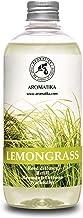 Lemongrass Reed Diffuser Refill, Natural Essential Lemongrass Oil 16.9oz - Fresh & Long Lasting Fragrance - 0% Alcohol - B...