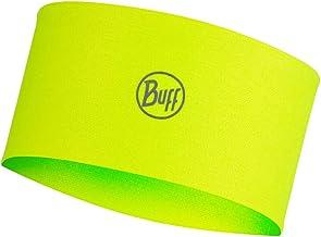Originele Buff Coolnet UV + hoofdband Solid Yellow neongeel, unisex, volwassenen, eenheidsmaat