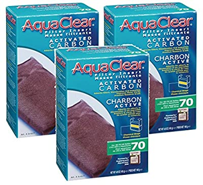 (3 Pack) AquaClear 70 Activated Carbon, 4.9 Ounce
