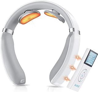 Masseur Cervical, EKUPUZ Massage de cou Electrique Intelligent, Masseur de nuque Portable avec 3 Fonction de chauffage, 6 ...