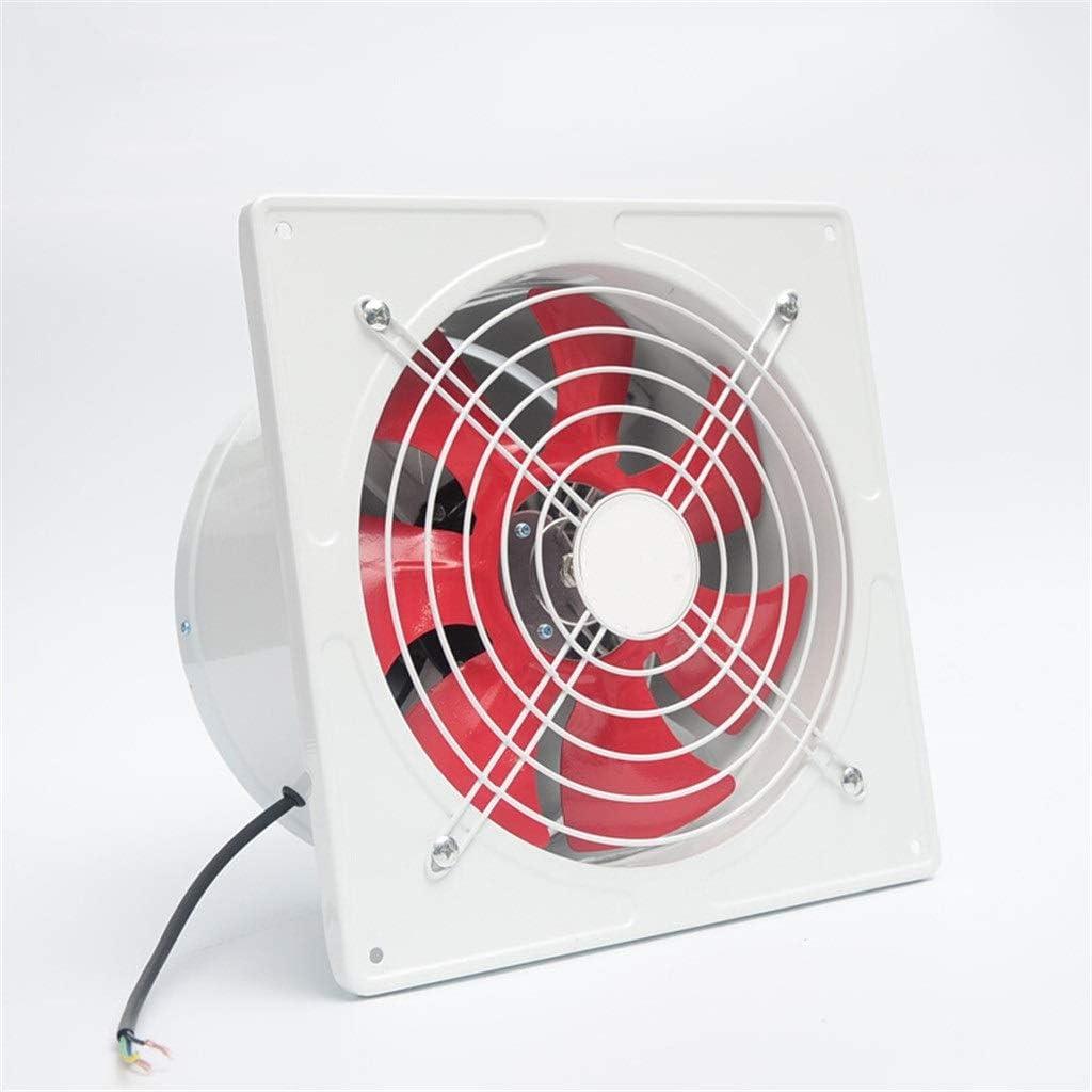 Yousiju Extractor de ventilación industrial de 12 pulgadas, extractor axial de metal, ventilador de aire comercial, funcionamiento estable de bajo ruido (Color : Black)
