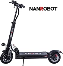 FEVERUP NANROBOT D5+ Powerful Foldable Electric Scooter-10″Tires,2000W Motor Power Allow for a 40 MPH Speed and 50 Miles Range