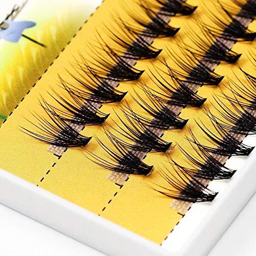 MBV 0,1 mm d'épaisseur Noir Profond 20D Faux Cils 120 pièces Cils Maquillage Utilisation, 10 mm