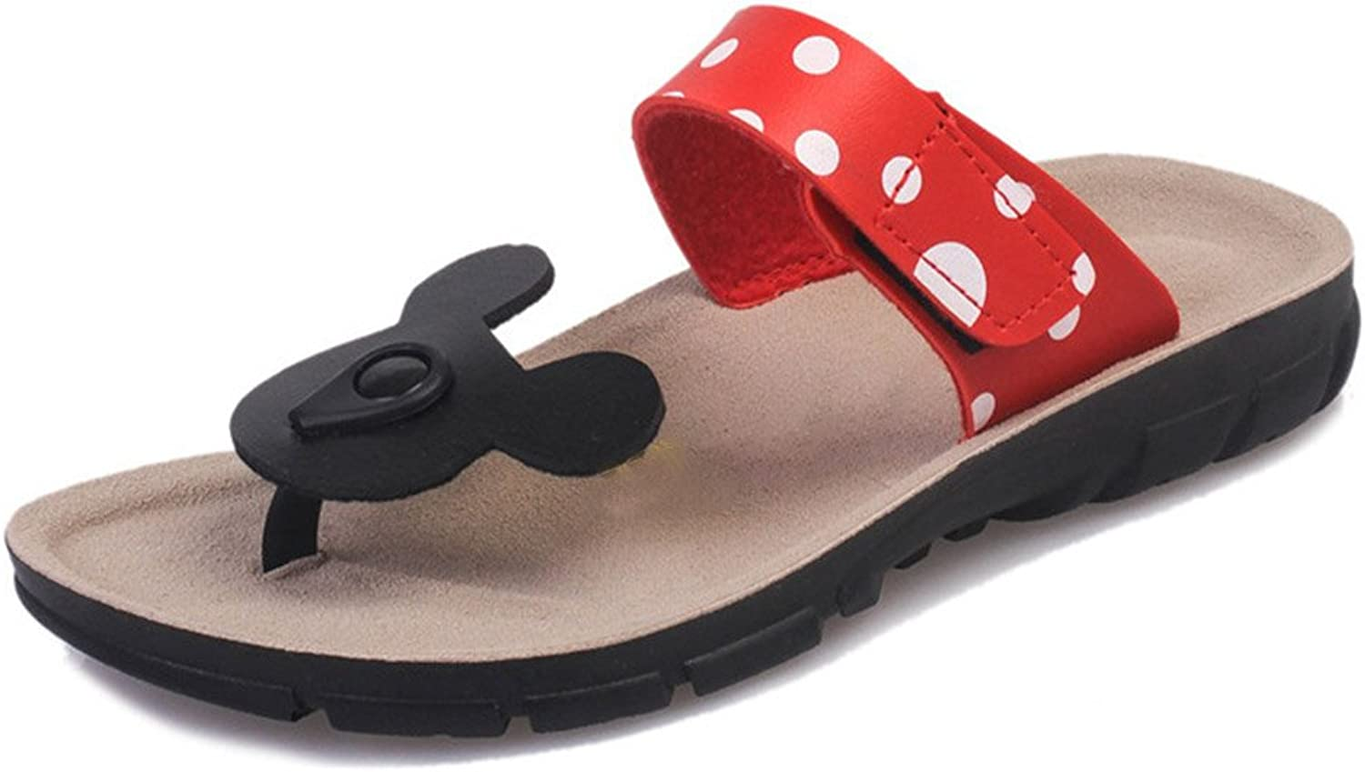 Kyle Walsh Pa Women Thongs Sandals-Comfort Mickey Mouse Flip Flops Flat shoes