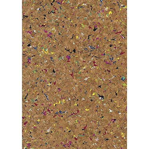 Rayher Hobby 63018000 Korkstoff, Design Granulat, natur/bunt, 45 x 30 cm gerollt, Stärke 0,5 mm, Box 1 Rolle