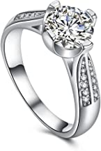 Napoo-Rings Women Flower Crystal Wedding Ring Jewelry Engagement Ring