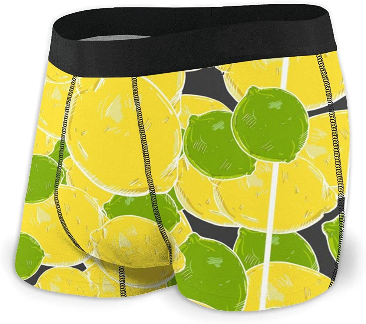 Randolph Wordsworth Mens Boxer Briefs Vector Lemons and Limes Breathable Underwear