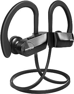 Mpow D7 Bluetooth Headphones Sport, 10H Playtime & IPX7 Waterproof Wireless Headphones Sport Earbuds W/Bass Stereo Sound, Running Headphones Bluetooth Earphones W/CVC 6.0 Noise Cancelling Mic, Black