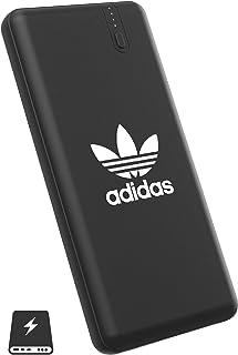 【アディダス オリジナルス】 モバイルバッテリー 大容量 8,000mAh パワーバンク Type-C 急速充電 & 2台同時充電可 軽量 持ち運び 充電器 スマホ iPhone/ipad/Android対応 ブラック [adidas OR Powerbank SS20 black]