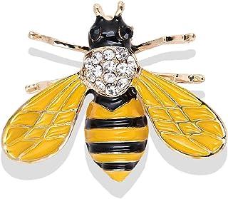 Tuipong Lindo Miel de Abeja Insecto Broche Esmalte Broches Ropa Accesorios Cubiertas Bufandas Clip de Mantón Regalos de Cu...