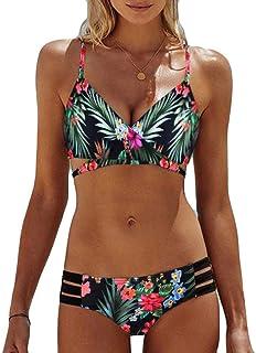 Bikinis Mujer, Dragon868 2020 Bohemia de Las Mujeres Empujar hasta Bra Playa Usar Bikinis para jovencitas Push up Bikini brasileños Trajes de baño