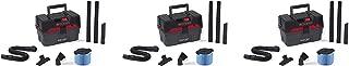 Ridgid 50318 4500RV ProPack Wet/Dry Vacuum, 4.5 gal, Red (Pack of 3)