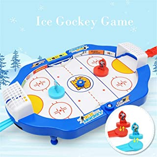 Transer- Blazing Air Hockey - Mini Ice Hockey Games Desktop Table Ball Games for Kids - Fast Paced Action Game Toys - 2 Players Competition Interactive Score Game Sport Gift Set (Multicolor)