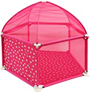 WJSW Kids Activity Centre Kid Playards Baby Fence Portable Safety Infant Playyards Toy Tents Baby Playpen Activity Center with Crawling Mat and 200 Ball Safety