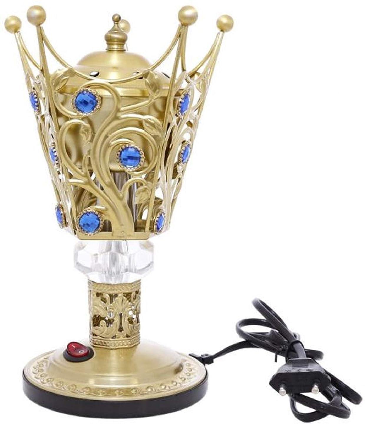 泣く格納受取人OMG-Deal Electric Bakhoor Burner Electric Incense Burner +Camphor- Oud Resin Frankincense Camphor Positive Energy Gift - WF-027- Golden