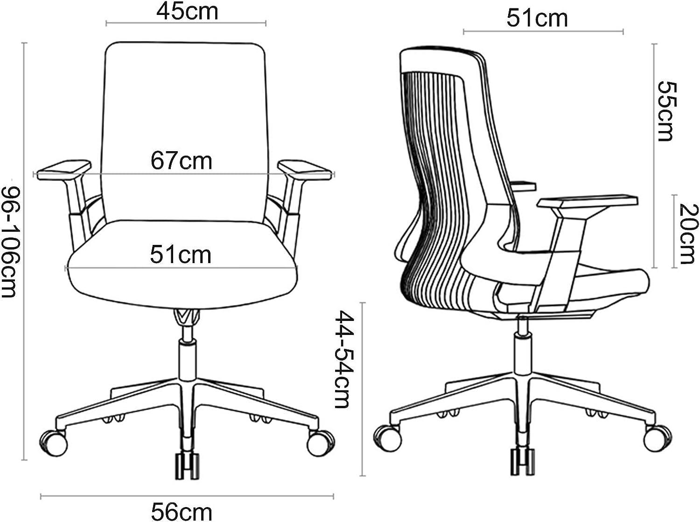 My-Swivel chair Chaise de Bureau pivotante Moderne Chaise de Bureau d'ordinateur Ergonomique avec Tissu Doux rembourré Hauteur réglable pour Salon Maison Salon Chambre à Coucher #3