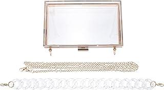 PRETYZOOM 1 stück sommer umhängetasche transparente quadratische kette handtasche mode frau tasche für Frauen zum Ausgehen...