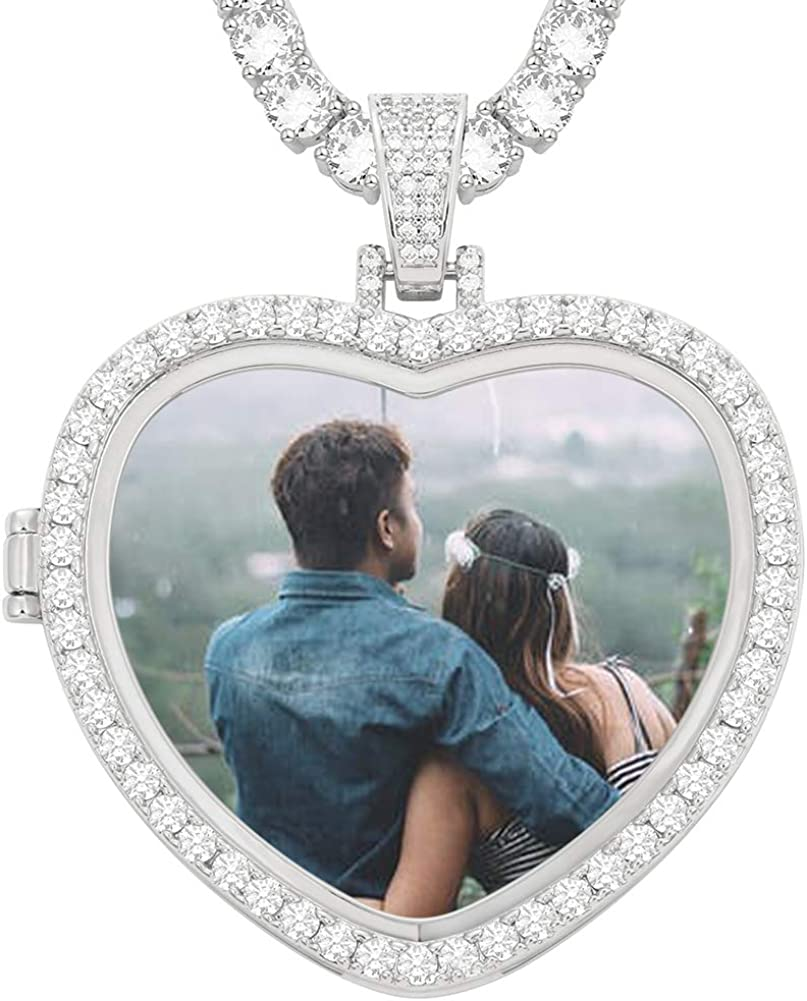 YIMERAIRE Customized Necklace for Men Picture Hip Photo Dealing full price reduction Max 48% OFF with Hop