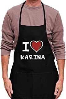 I love Karina Bicolor Heart Apron 24