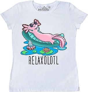 inktastic Relaxolotl- Cute Axolotl on Summer Vacation Women's T-Shirt