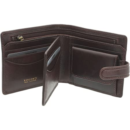 Visconti Tuscany Collection Arezzo Leather Wallet with RFID Protection TSC42 Brown