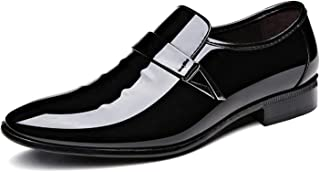 Men's Pointed-Toe Tuxedo Dress Shoes Casual Slip-on Loafer