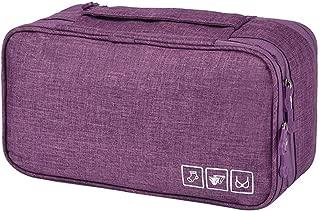 Enerhu Travel Underwear Organizer Portable Packing Organizers Bra Underwear Storage Bag